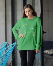 Christmas Lights Xmas Dog Poodle Long Sleeve Tee apparel-long-sleeve-tee-lifestyle-front-20