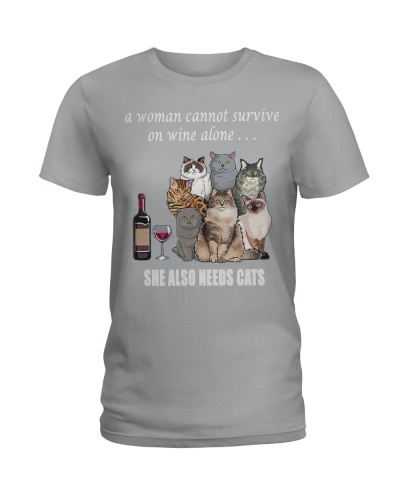 women survive with cats  t-shirt