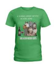 women survive with cats  t-shirt Ladies T-Shirt front