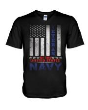 Navy Veterans Of The United States T Shirt By Tomg V-Neck T-Shirt thumbnail