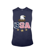 Usa Bald Eagle T Shirt By Portokalis Design By Hum Sleeveless Tee tile