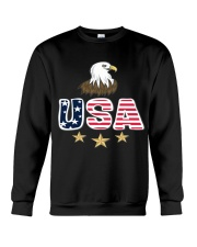 Usa Bald Eagle T Shirt By Portokalis Design By Hum Crewneck Sweatshirt thumbnail