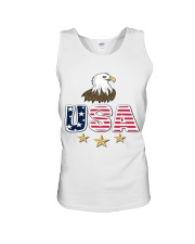 Usa Bald Eagle T Shirt By Portokalis Design By Hum Unisex Tank thumbnail
