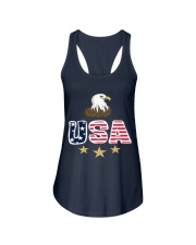 Usa Bald Eagle T Shirt By Portokalis Design By Hum Ladies Flowy Tank thumbnail