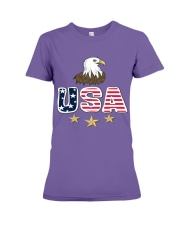 Usa Bald Eagle T Shirt By Portokalis Design By Hum Premium Fit Ladies Tee tile