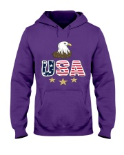 Usa Bald Eagle T Shirt By Portokalis Design By Hum Hooded Sweatshirt thumbnail