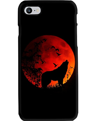 Red Moon Wolf Phone Case