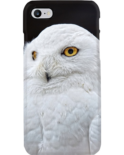 White Snowy Owl iPhone Case