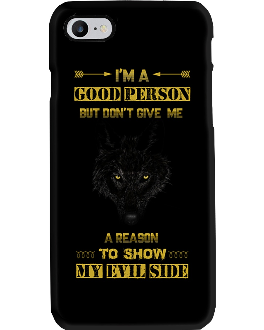 i Am A Good Person - Wolf iPhone And Android Case Phone Case