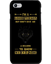 i Am A Good Person - Wolf iPhone And Android Case Phone Case i-phone-7-case