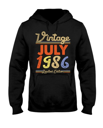Vintage July 1986 Limited Edition Men Women