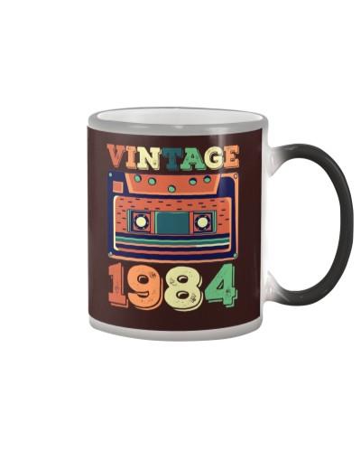 Retro Vintage 1984 35 Years Old 35th Birthday