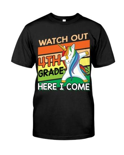 4th Grade Here I Come Unicorn Back To School