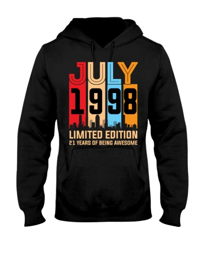 July 1998 21 Year Old 21st Birthday Gift