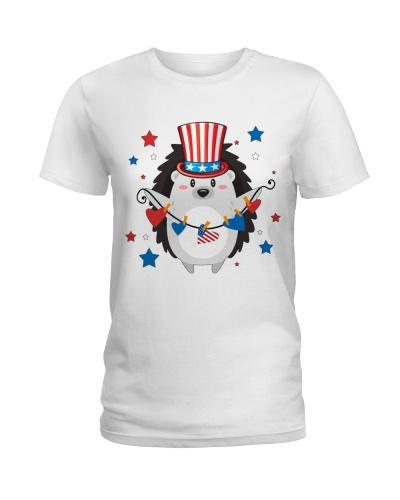 Patriotic Hedgehog American Flag 4th Of July Gift