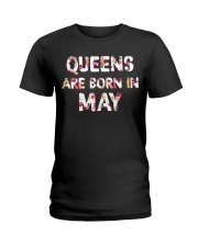 QUEENS ARE BORN IN MAY Ladies T-Shirt front