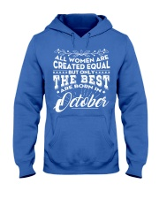 ONLY THE BEST ARE BORN IN OCTOBER Hooded Sweatshirt front