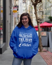 ONLY THE BEST ARE BORN IN OCTOBER Hooded Sweatshirt lifestyle-unisex-hoodie-front-2