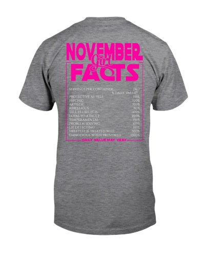 NOVEMBER FACT GIRLS