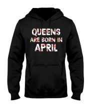 QUEENS ARE BORN IN APRIL Hooded Sweatshirt thumbnail