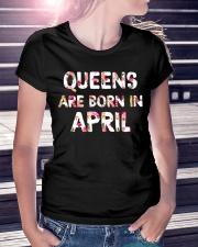 QUEENS ARE BORN IN APRIL Ladies T-Shirt lifestyle-women-crewneck-front-7