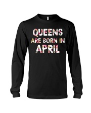 QUEENS ARE BORN IN APRIL Long Sleeve Tee thumbnail