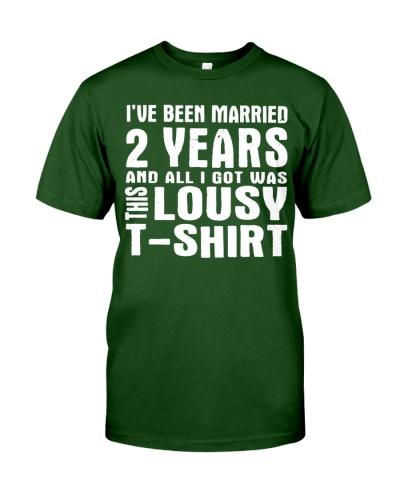 2nd Year Anniversary Shirt Two Year Wedding Marrie