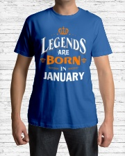 LEGENDS ARE BORN IN JANUARY Classic T-Shirt lifestyle-mens-crewneck-front-1