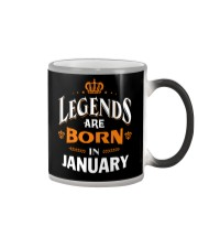 LEGENDS ARE BORN IN JANUARY Color Changing Mug thumbnail