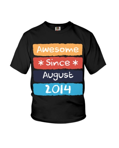 Kid Awesome Since August 2014 Vintage 5th Birthday