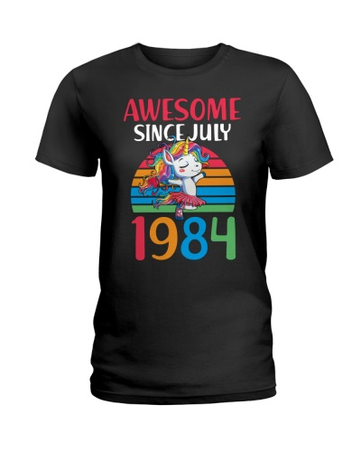 Awesome Since JULY 1984 35th Unicorn Birthday