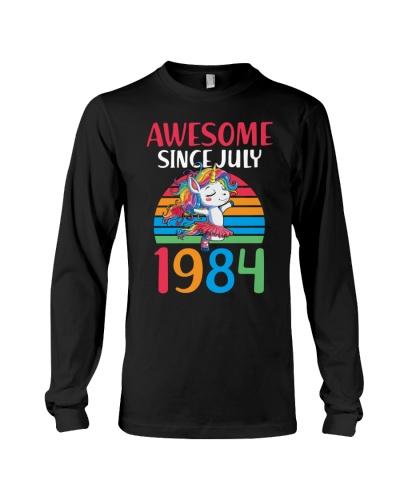 Awesome Since JULY 1984 35th Unicorn Birthday
