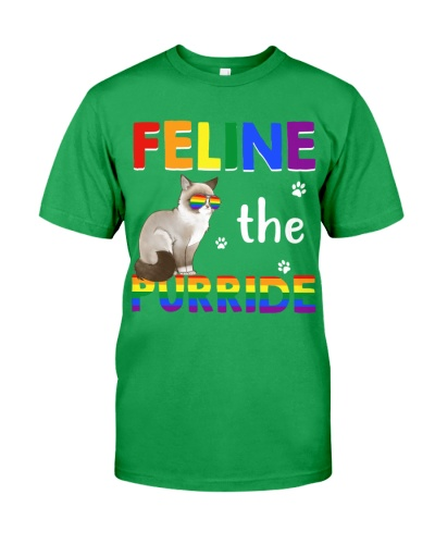 Feline The Purride Rainbow Cat LGBT Gay Pride Gift
