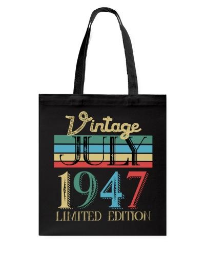 Retro Vintage July 1947 Vintage 72nd Birthday