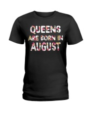 QUEENS ARE BORN IN AUGUST Ladies T-Shirt front
