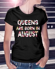 QUEENS ARE BORN IN AUGUST Ladies T-Shirt lifestyle-women-crewneck-front-7