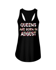 QUEENS ARE BORN IN AUGUST Ladies Flowy Tank thumbnail