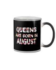 QUEENS ARE BORN IN AUGUST Color Changing Mug thumbnail