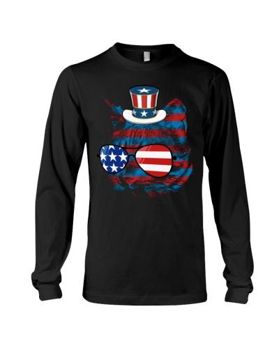 4th July Gift For Women Men Cat Meowica American