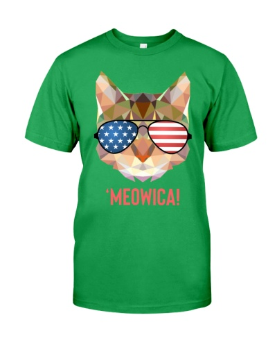 4th Of July American Flag Cat Meowica Unicorn Cat