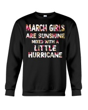 MARCH GIRL SUNSHINE MIXED WITH LITTLE HURRICANE Crewneck Sweatshirt thumbnail