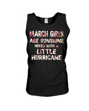 MARCH GIRL SUNSHINE MIXED WITH LITTLE HURRICANE Unisex Tank thumbnail