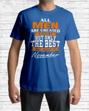 ONLY THE BEST ARE BORN IN NOVEMBER Classic T-Shirt lifestyle-mens-crewneck-front-1