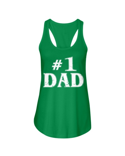 1 Dad Number One Father's Day TShirt Best Dad Cool