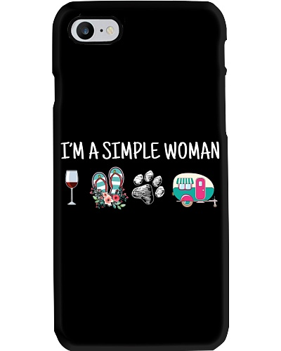 I'm A Simple Woman Wine Flip-Flops Dog Paw Camping