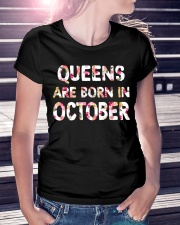 QUEENS ARE BORN IN OCTOBER Ladies T-Shirt lifestyle-women-crewneck-front-7