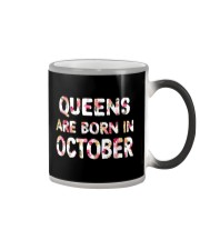QUEENS ARE BORN IN OCTOBER Color Changing Mug thumbnail