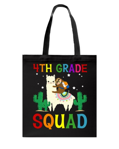 Sloth Riding Llama 4th Grade Squad Back To School