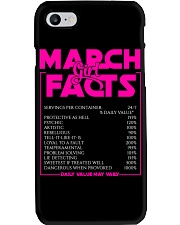MARCH FACT GIRLS Phone Case tile