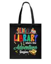 Library Where The Adventure Begins Tote Bag thumbnail